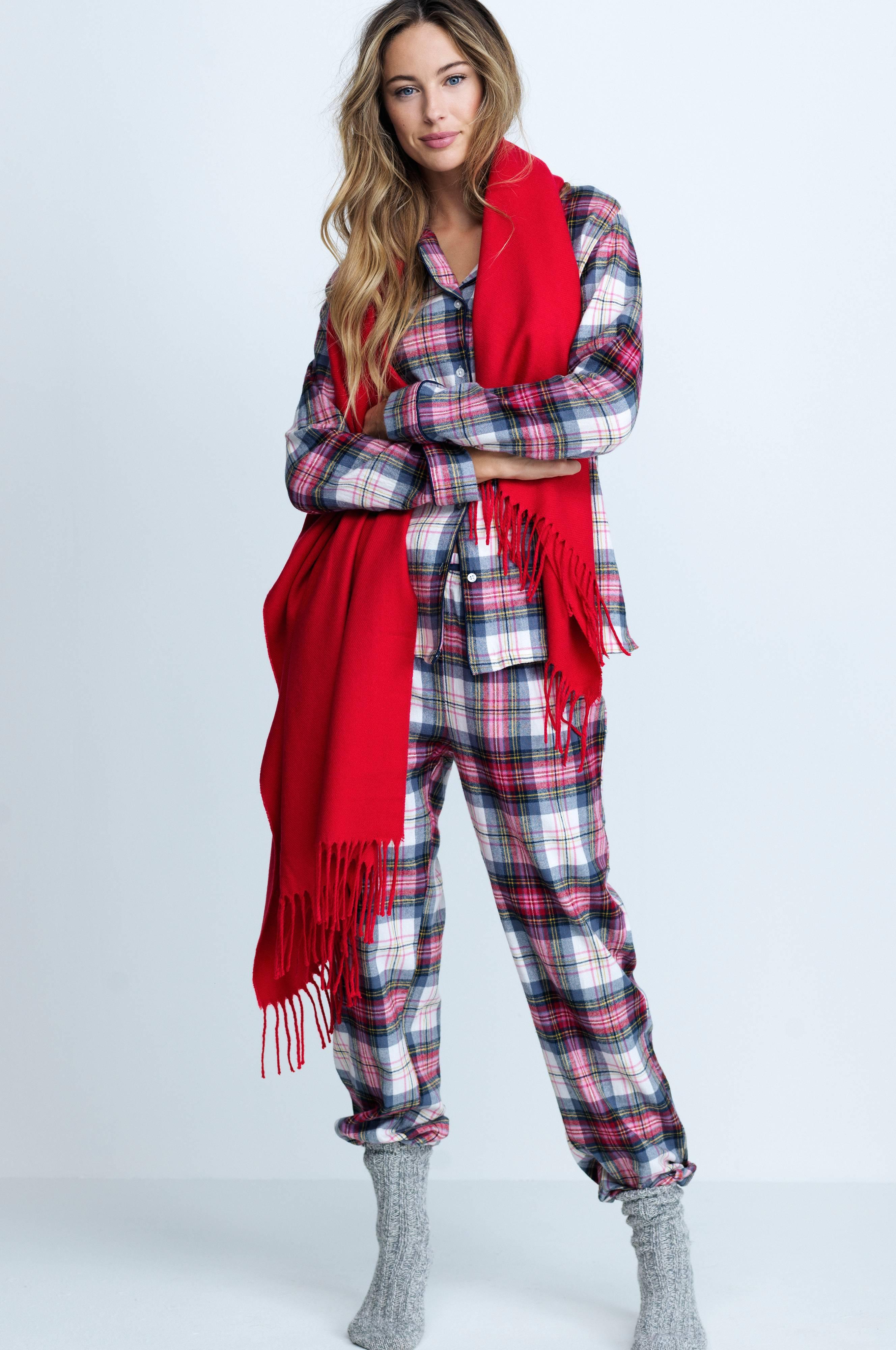 Ellos Collection Pyjamas af blød flonel - Dame - Ellos.dk