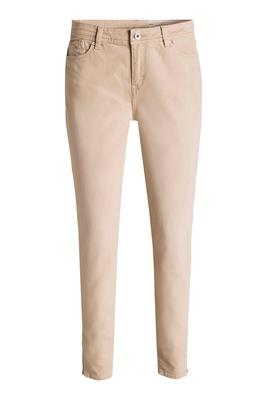 jeans med dragkedja i benslut