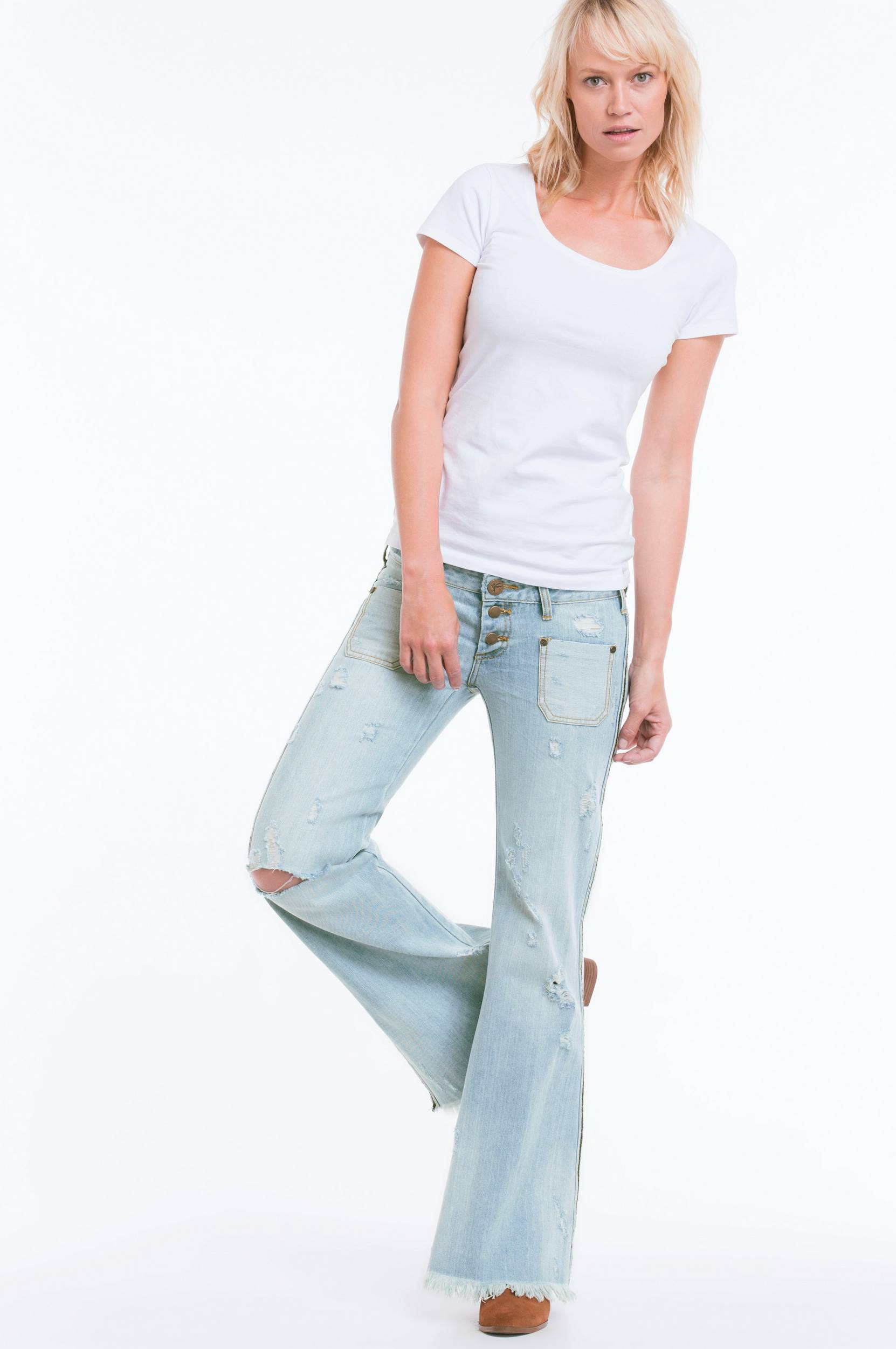 Jeans Florence le cats, flare slim fit thumbnail