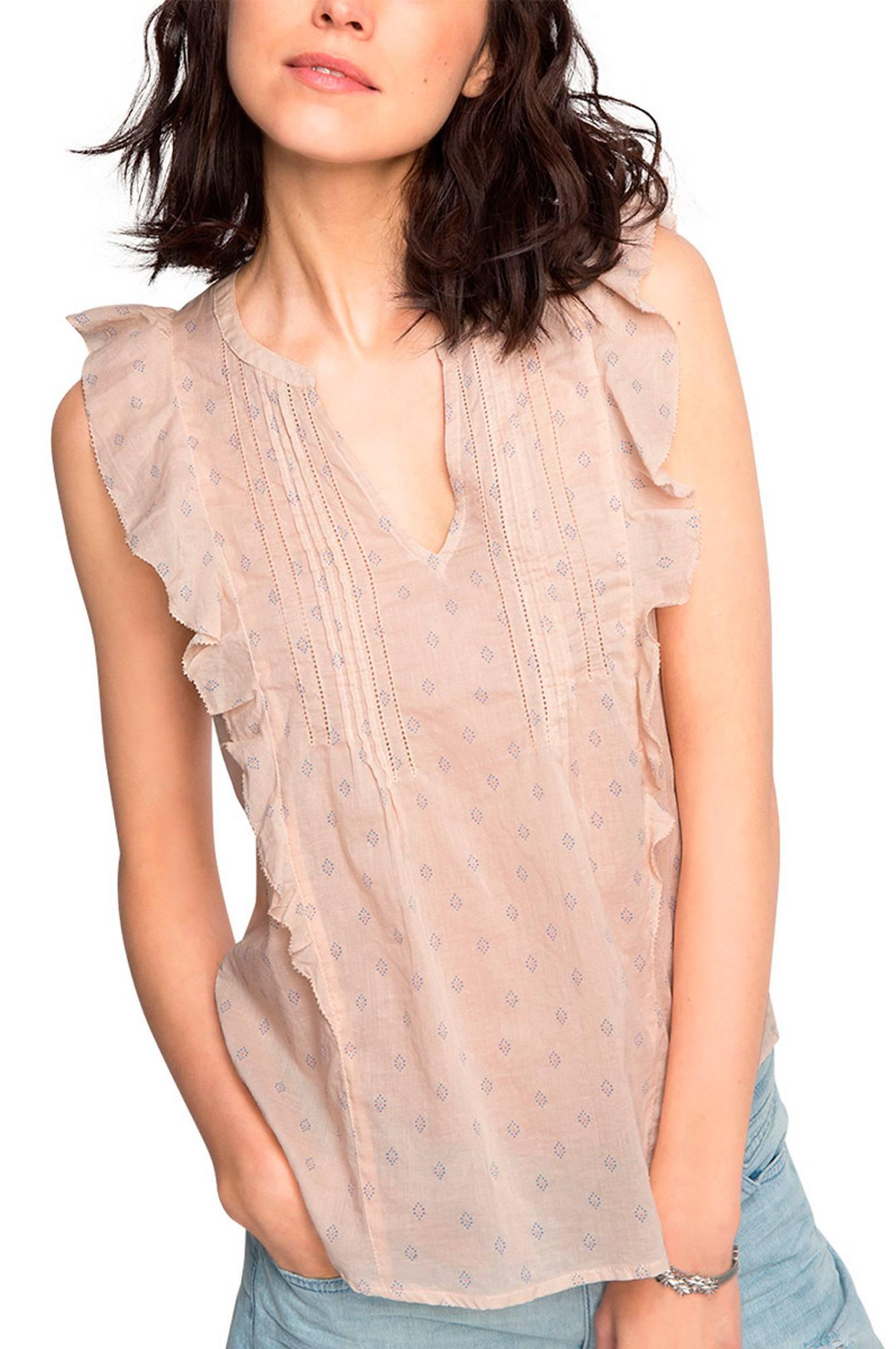 ad2f0c7d508 Bluse med flæser Esprit Skjorter & bluser til Kvinder i Beige