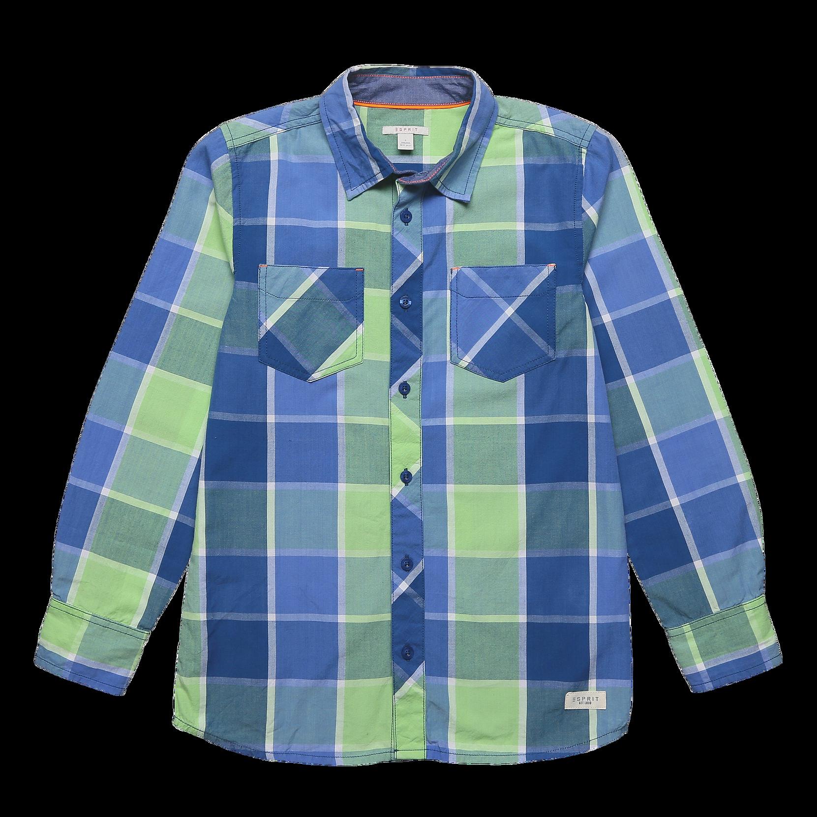 Skjorte med to lommer Esprit Skjorter til Børn i Blå/grønternet