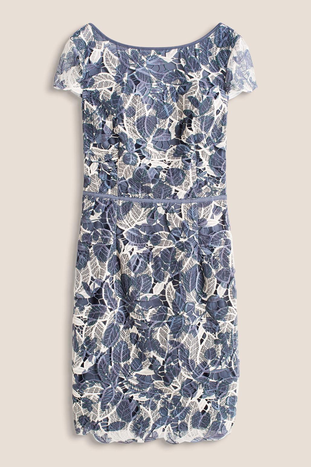 Esprit Mekko, jossa V pääntie Sininen Lyhyet mekot