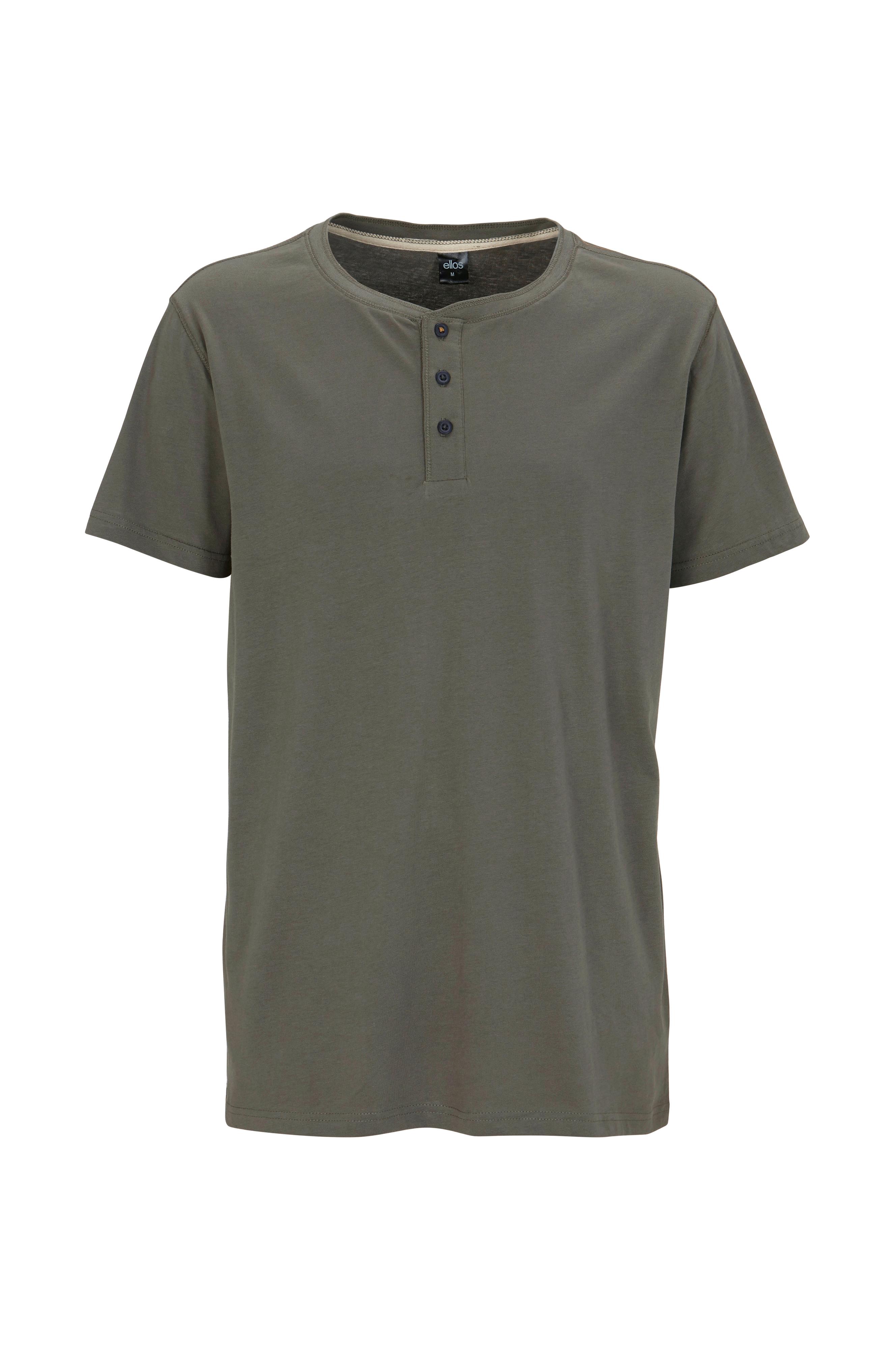 Ellos Men T shirt med knapper i halsen Grøn Herre Ellos.dk