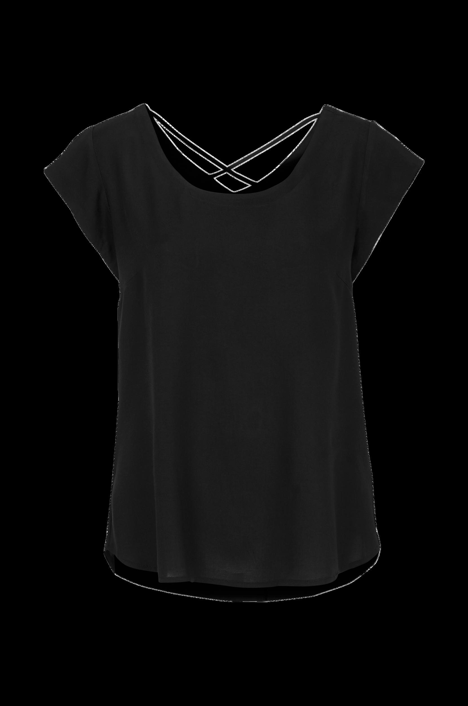 Top med kort ærme Saint Tropez Skjorter & bluser til Kvinder i Mørk lilla