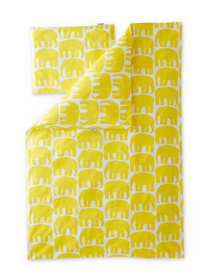 Elefantti-pussilakanasetti 85x125 cm