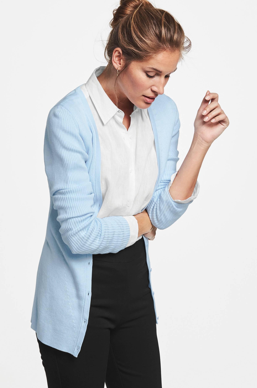 Cardigan Yvonne MORE THAN BASIC Trøjer & cardigans til Kvinder i Lyseblå