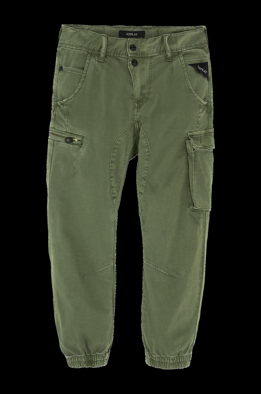 Cargobuks i bomuldsstretch Replay Bukser & shorts til Børn i Kakigrøn