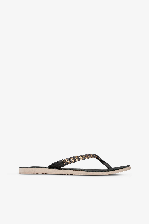 Sandal Navie II klipklapper med guldfarvet flet UGG Australia Sandaler & sandaler med hæl til Kvinder i Sort