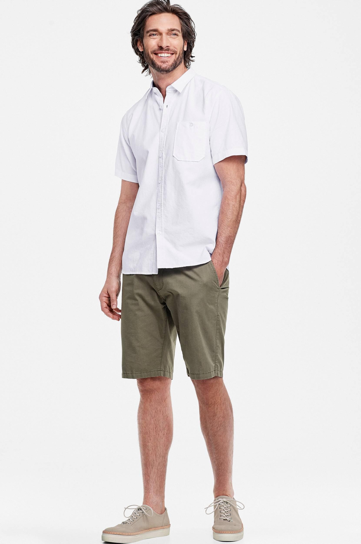 Kortærmet oxfordskjorte Ellos Skjorter til Mænd i Hvid