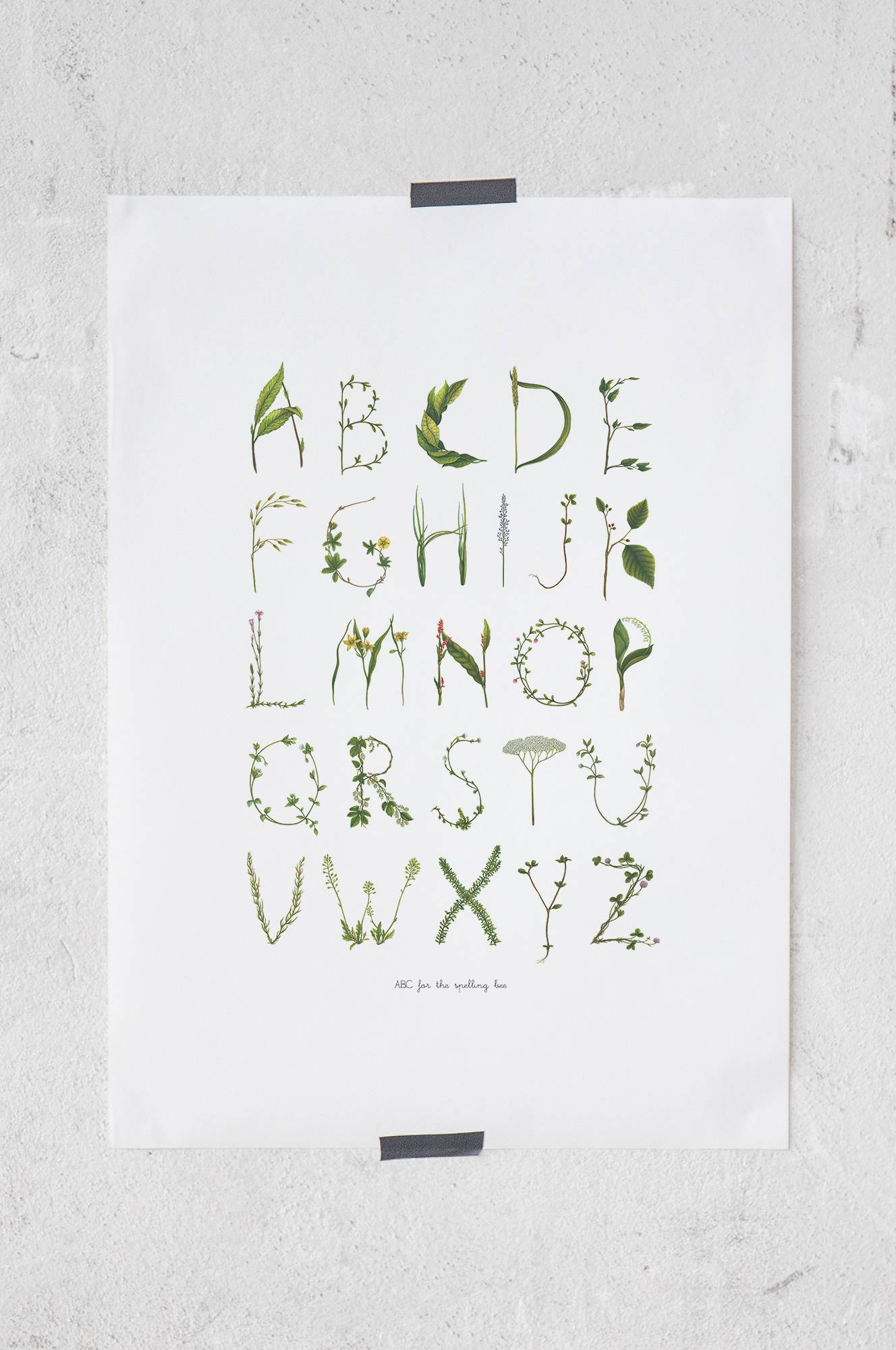 ABC for the spelling bee -juliste 50x70 cm