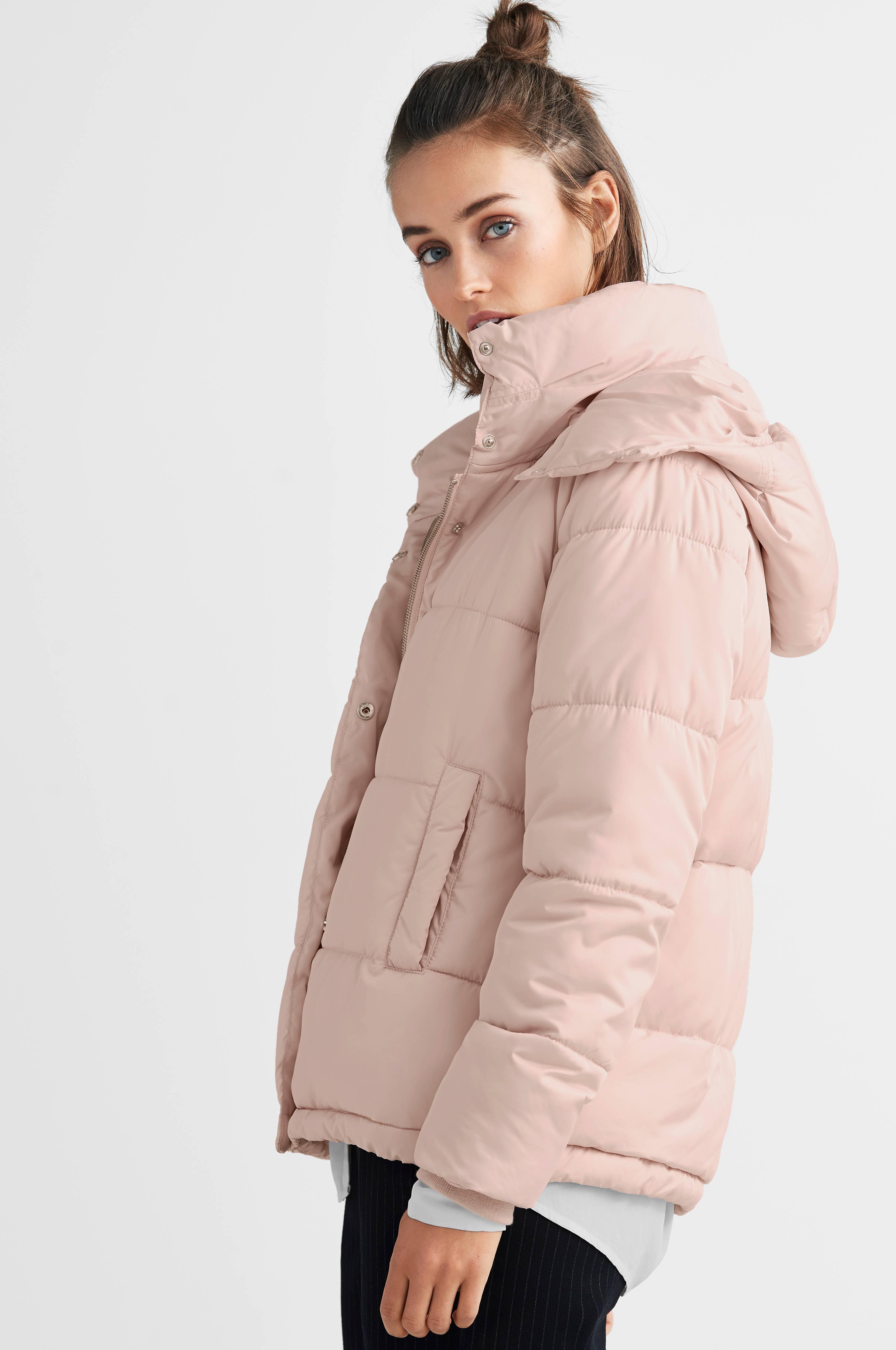 Ellos Collection Kort jakke i fuskepels Rosa Jakker