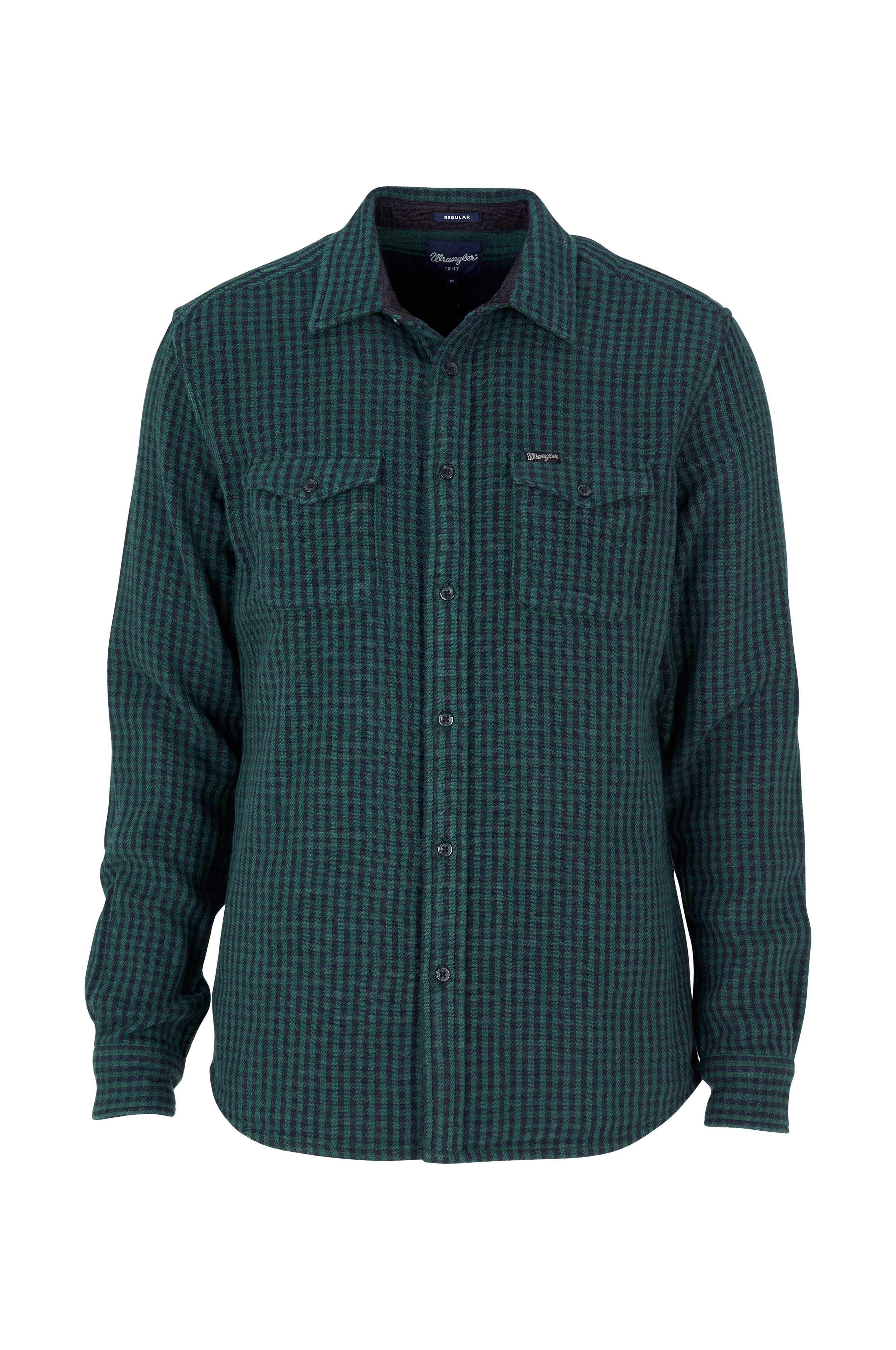 Wrangler Skjorta 2PKT Flap Shirt - Grön - Herr - Ellos.se d529c6acd026a