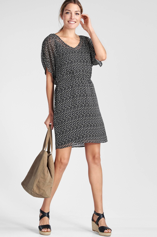 60e0d9b236f4 Kjole med aftagelig underkjole Esprit Kjoler til Kvinder i Sort
