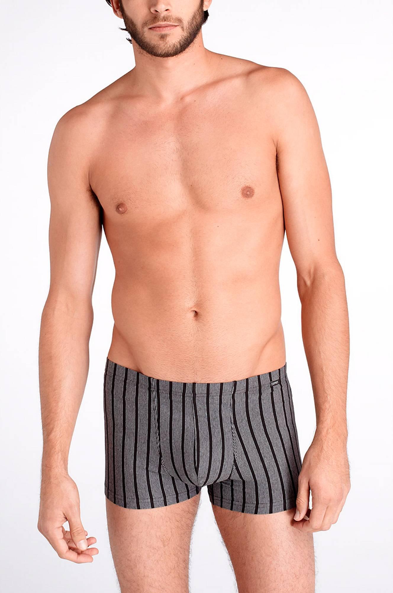 Boxershorts i 2-pak Esprit Undertøj til Mænd i Sort + gråstribet