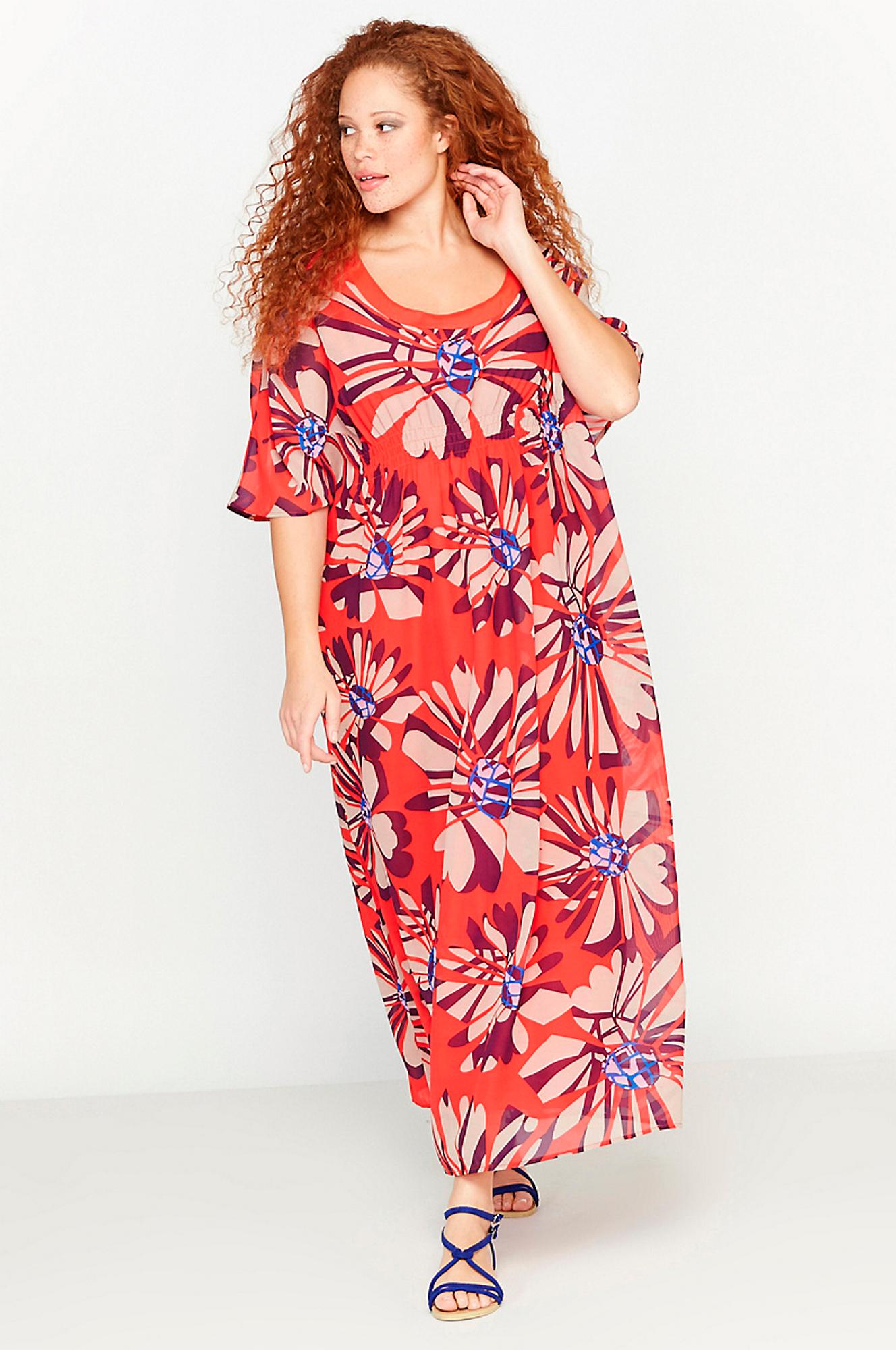Lang kjole La Redoute Kjoler til Kvinder i Rødmønstret