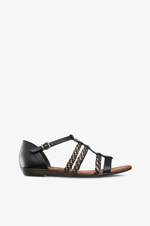 Sandaalit, joissa kullanvärinen koriste