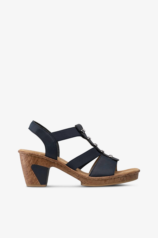 Sandal i behagelig model Rieker Sandaler & sandaler med hæl til Kvinder i Midnatsblå