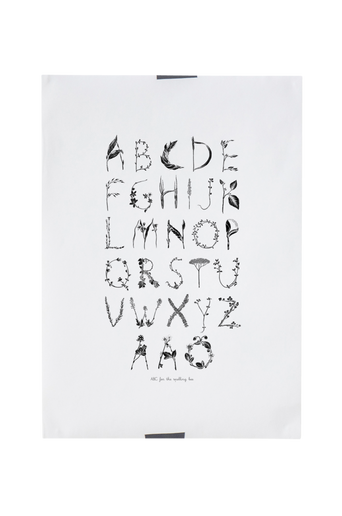 ABC for the Swedish bee -juliste 50x70 cm