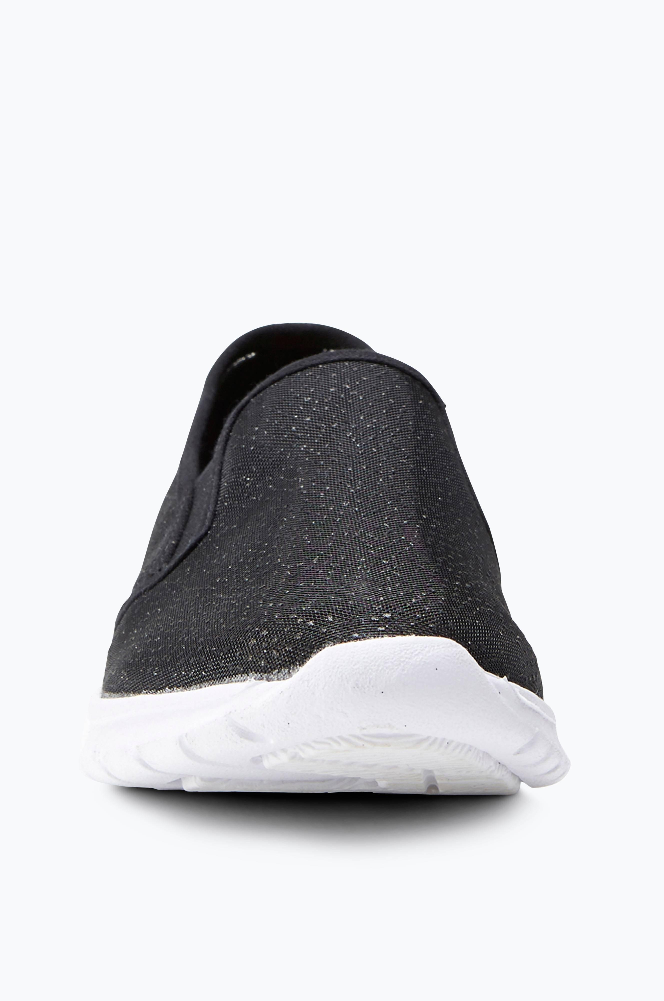 Ellos Shoes Sneakers slip on med glitter Svart Dam
