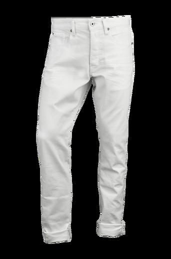 3301 Tapered Inza White Stretch Denim -farkut