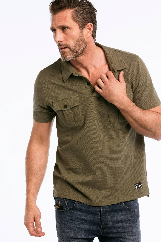 Poloshirt med brystlommer Ellos T-shirts & tanktoppe til Mænd i Olivengrøn