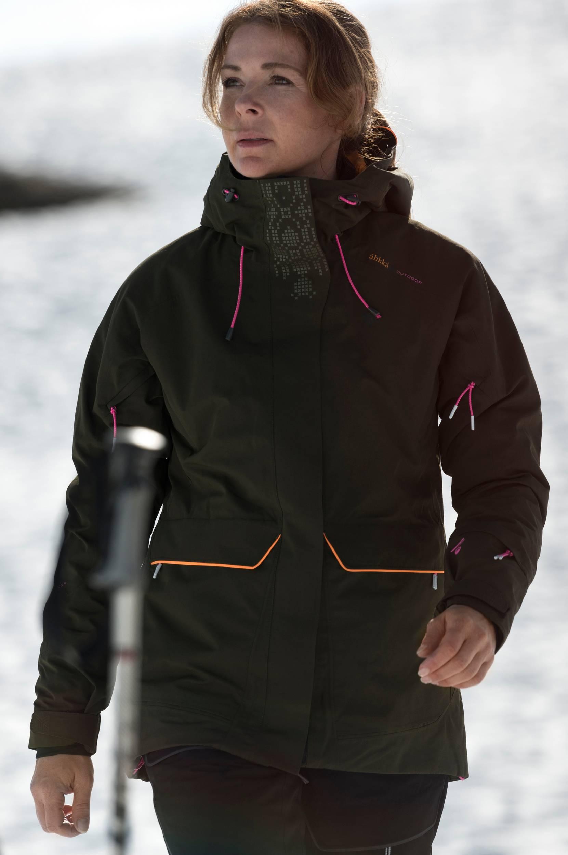 Skijakke Vaiseloukta W Ski Jkt Áhkká Overtøj til Kvinder i Mørkegrøn