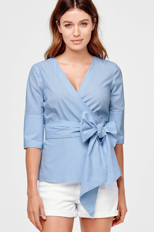 Bluse Ania Ellos Skjorter & bluser til Kvinder i Blå/hvidstribet