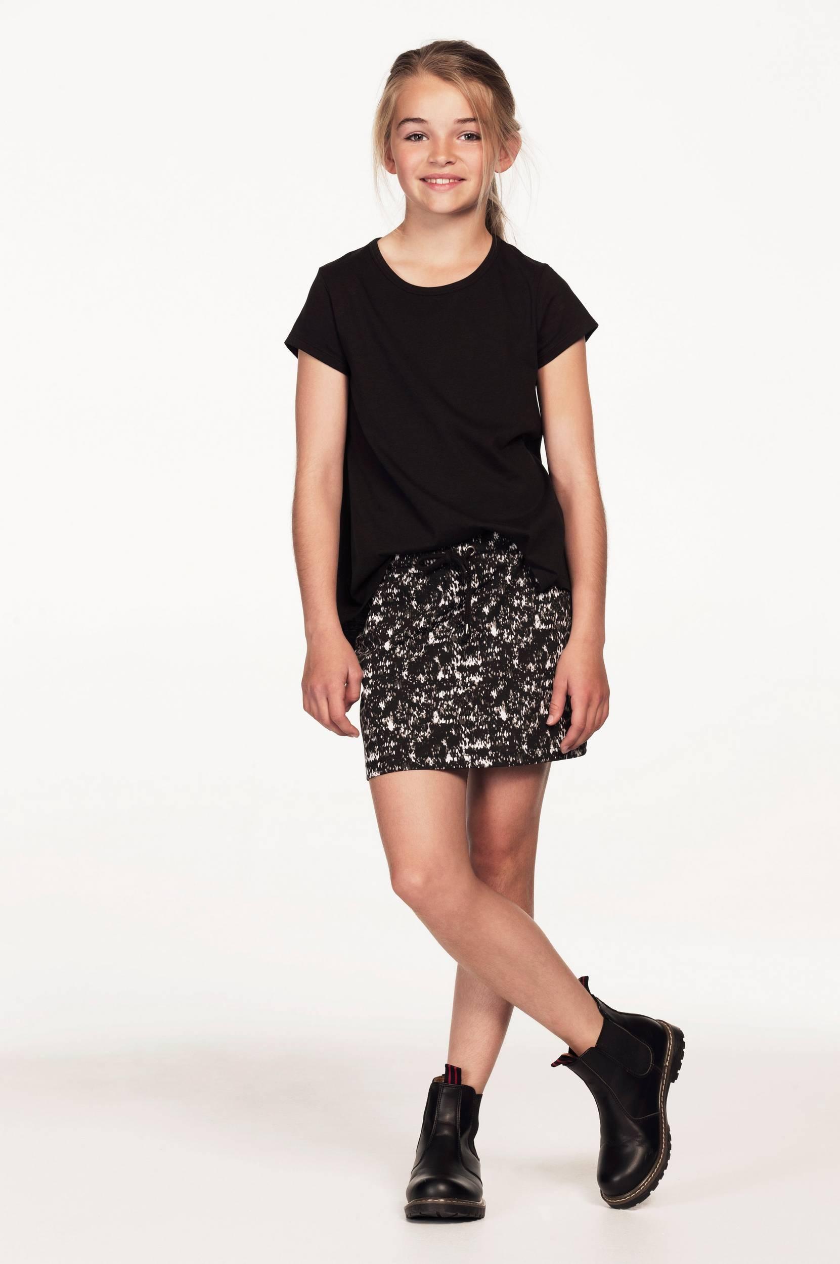 Nederdel med løbegang Ellos Kjoler & nederdele til Børn i Mønstret/sort