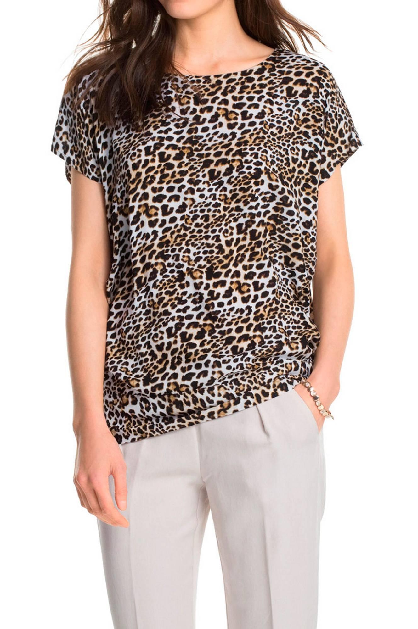 Top med leopardmønster Esprit Toppe & tank-toppe til Kvinder i Offwhitemønstret