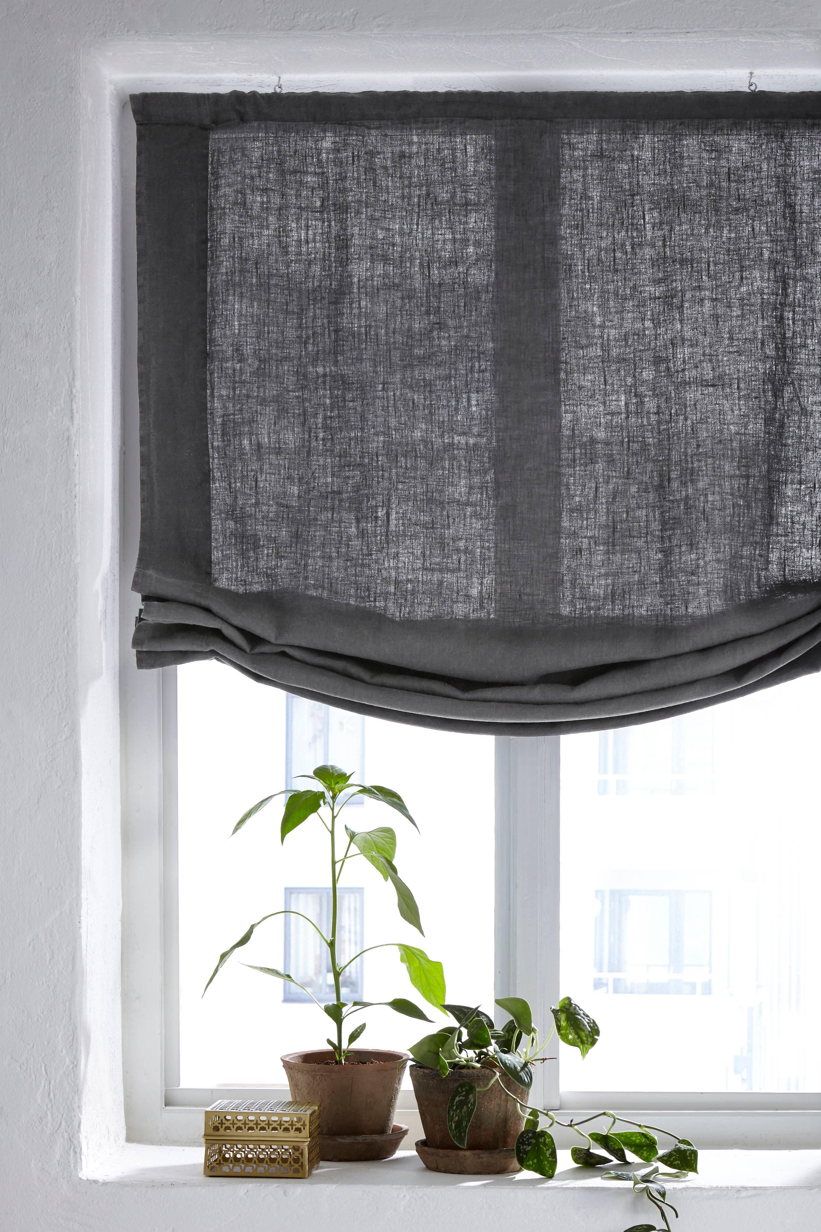 9cee795d Utmerket Ellos Home Liftgardin Pembroke i 100% lin - Grå - Tekstiler LU-69