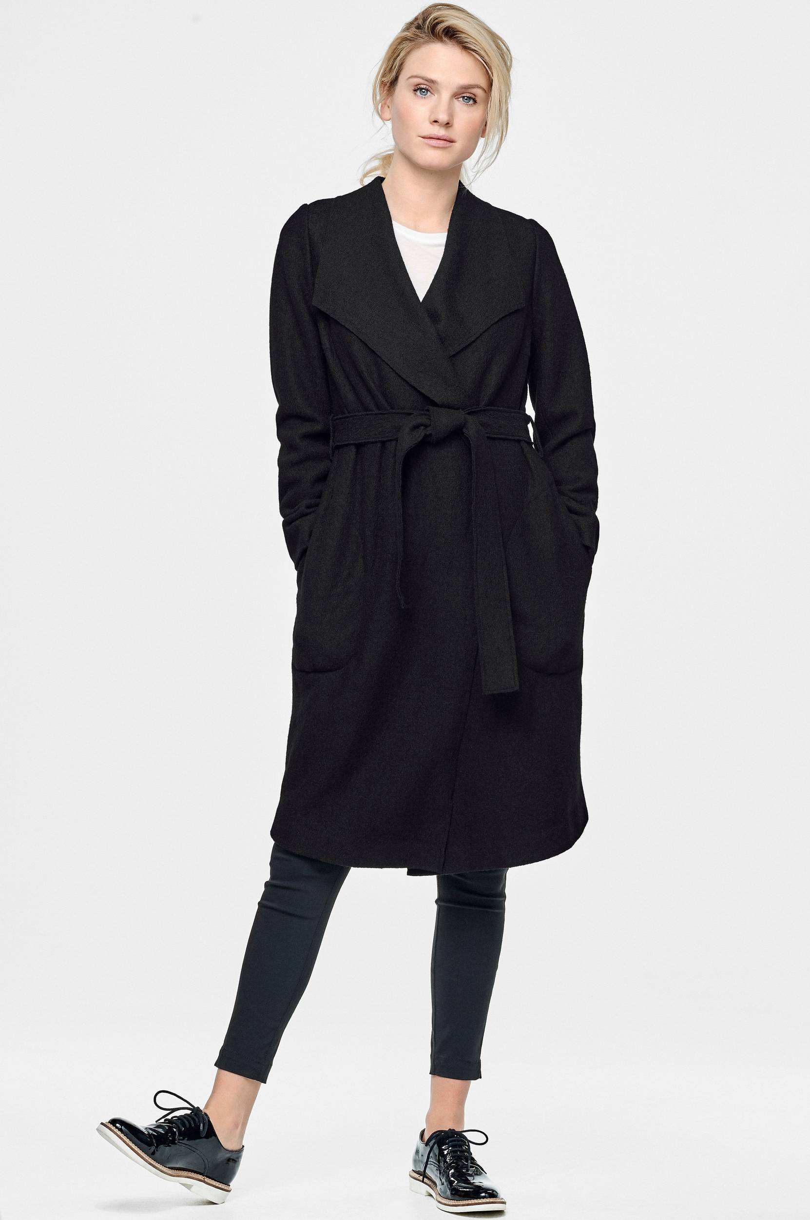 The raw hem coat -takki
