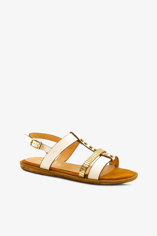 Fiamma-sandaalit, kullanväriset detaljit