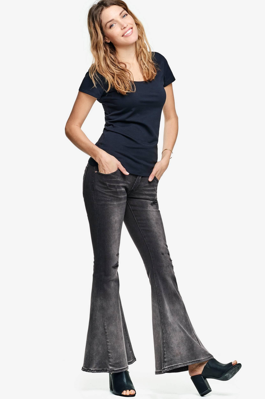 Jeans Marines, slim fit One Teaspoon Jeans til Kvinder i Sort/black oak