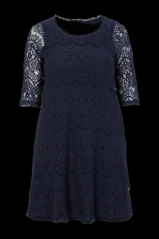 Kjole i blonde Zizzi Kjoler til Kvinder i Mørkeblå