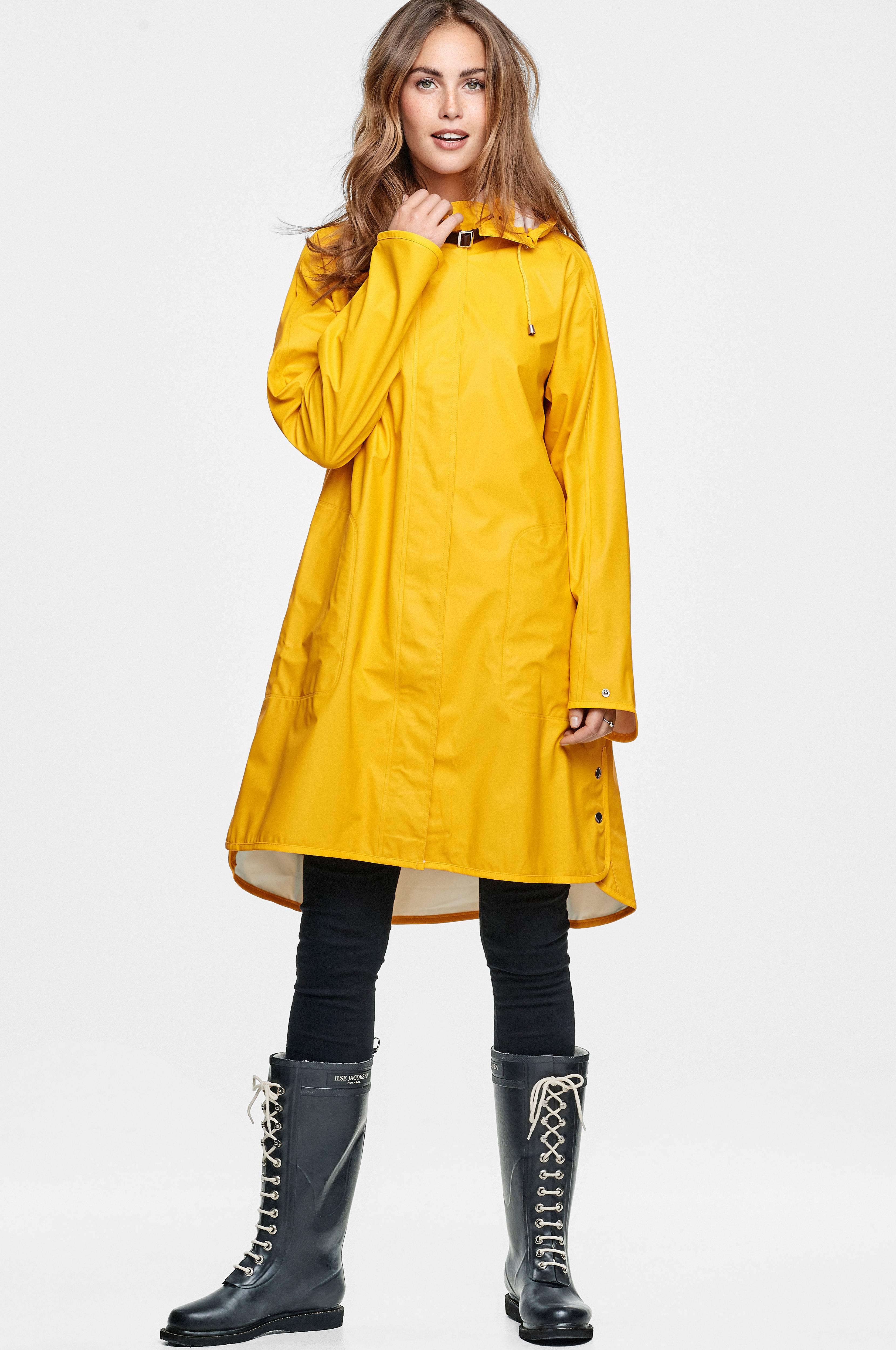 275b0f55 Ilse Jacobsen Regnfrakk Rain71 - Gul - Dame - Ellos.no