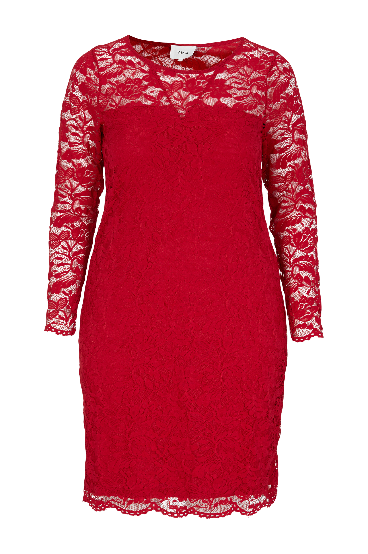 Kvinder Rød Til Zizzi I Blondekjole Kjoler Sfw1nqHT