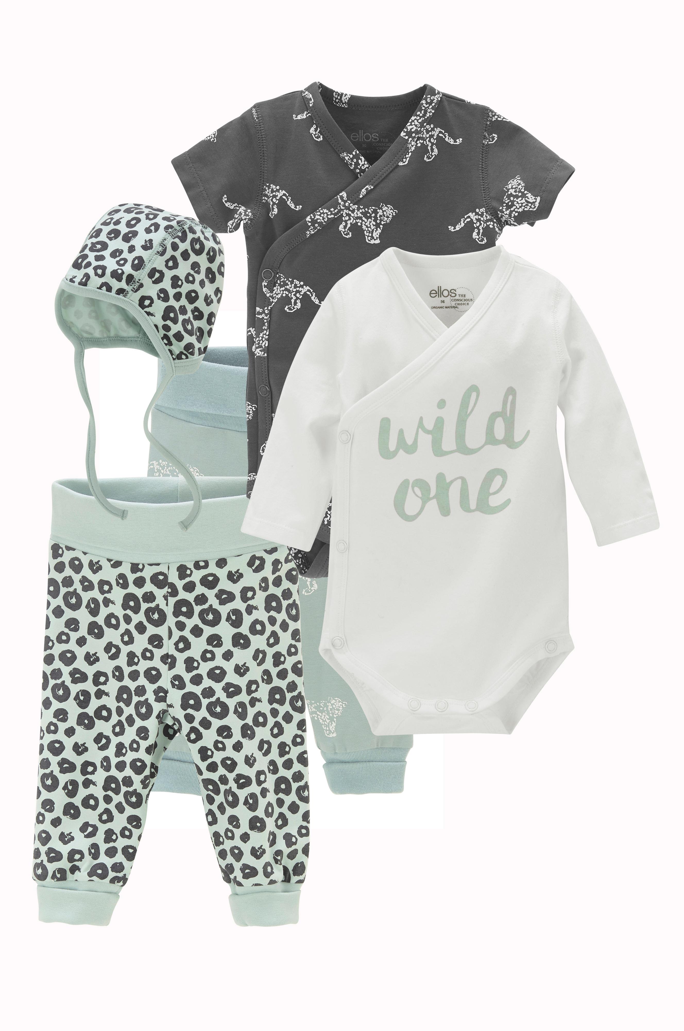 2cc16c28aa9 Ellos Kids Startpakke baby af økologisk bomuld 5 dele - Børn - Ellos.dk