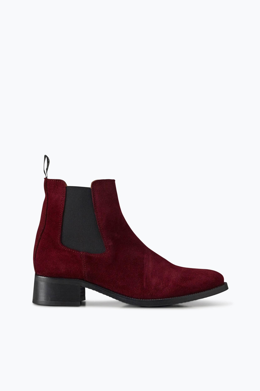 Chelsea-boots Riley Tiger of Sweden Boots & snørestøvler til Kvinder i Vinrød ruskind