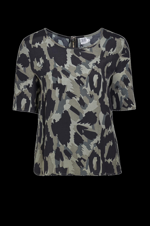 Bluse Saint Tropez Skjorter & bluser til Kvinder i Grøn/sort
