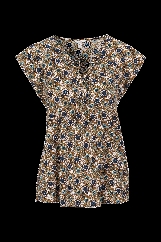 Bluse mønstret Esprit Skjorter & bluser til Kvinder i Brunmønstret