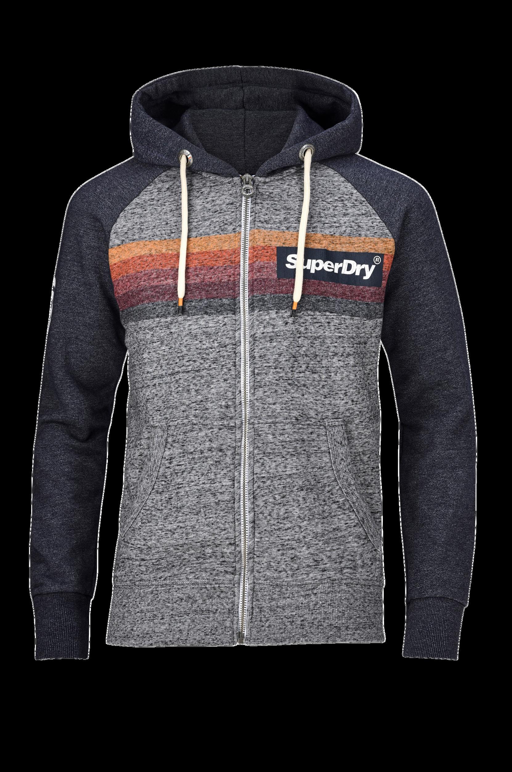 Sweatshirt Super 77 Surf Raglan Ziphood Superdry Trøjer til Mænd i Grå/flint grey grit