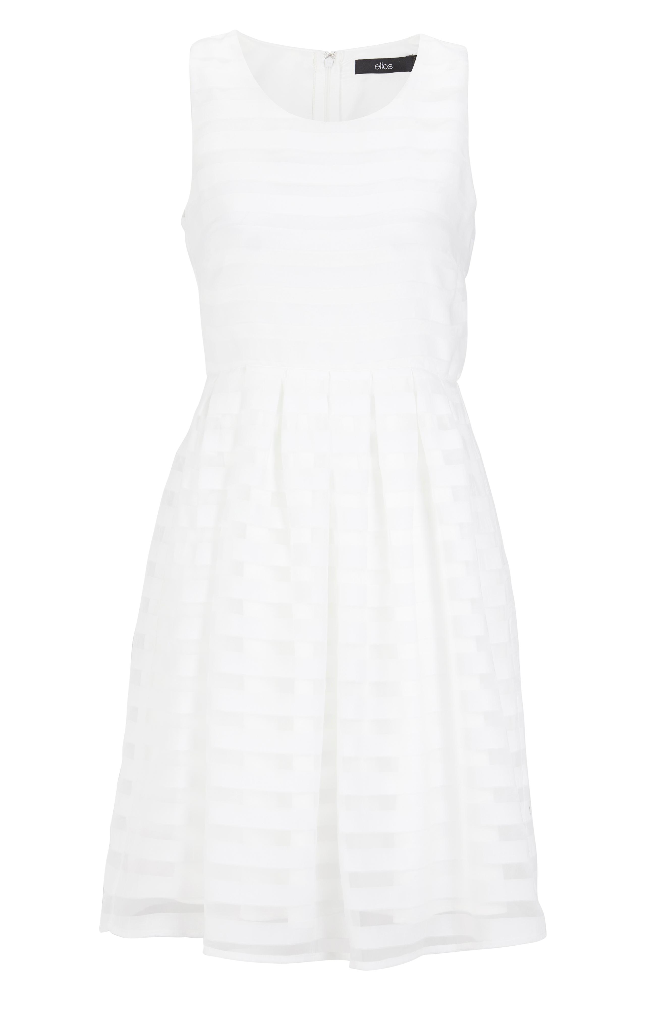 Ellos Collection Klänning randig Vit Korta klänningar