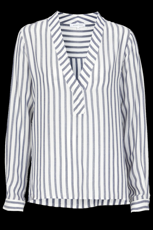 Bluse Panda Second Female Skjorter & bluser til Kvinder i Hvid/blåstribet