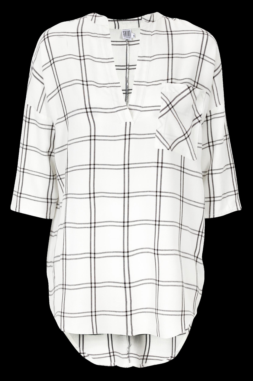 Bluse med vævede tern Saint Tropez Skjorter & bluser til Kvinder i Hvid