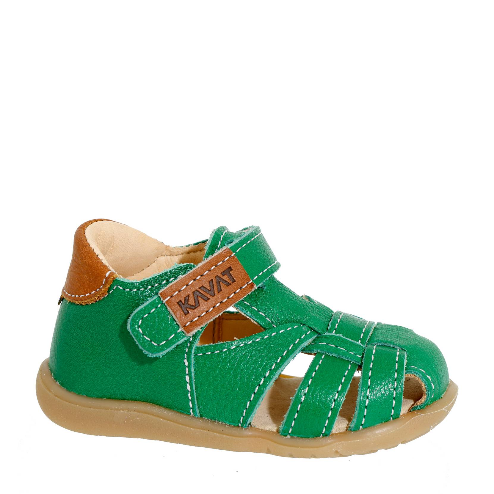 ae2c8fc61021 Sandal Rullsand Eco af økologisk skind Kavat Sandaler til Børn i Grøn