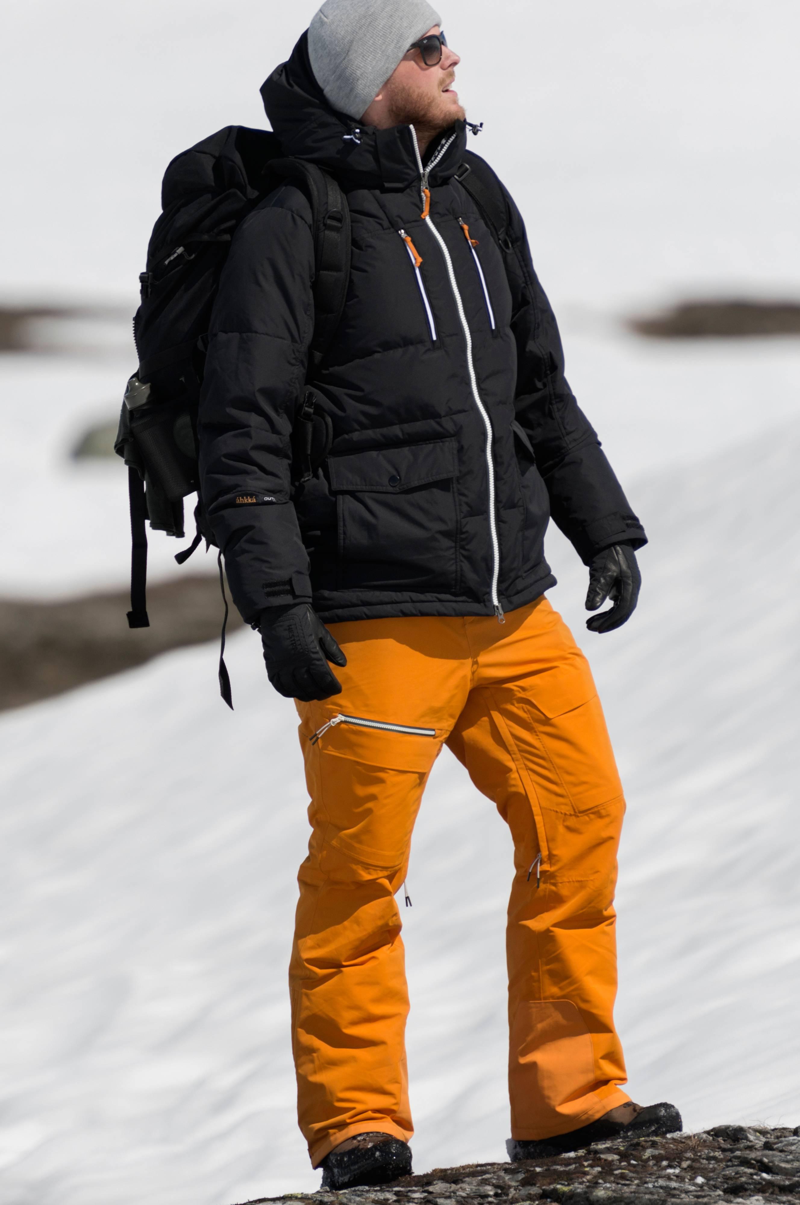 c43b1356 Áhkká Skibukse Nuorva M Ski Pant - Orange - - Ellos.no