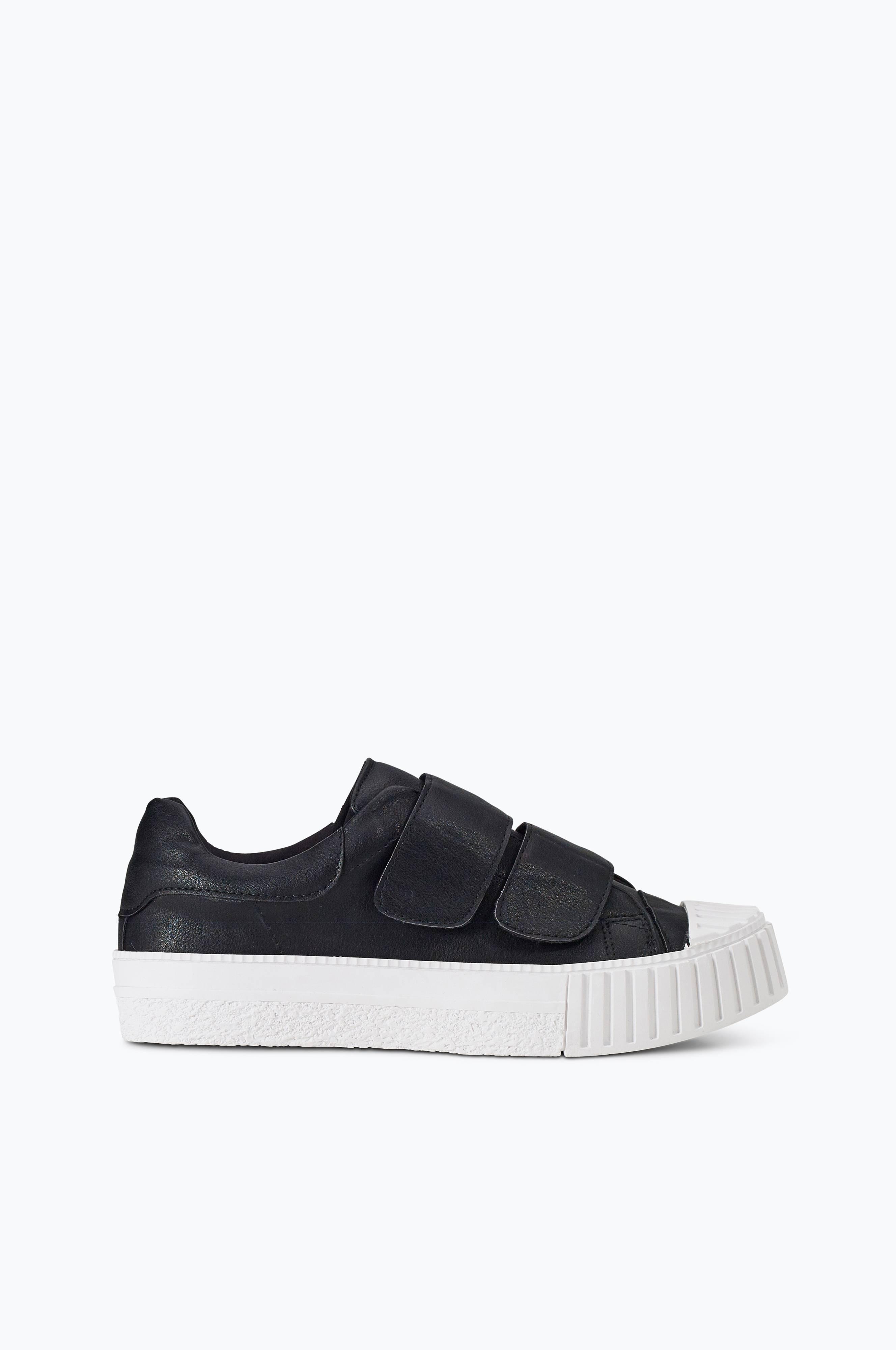 Ellos Shoes Sneakers Trend Velcro med platå Svart Dam