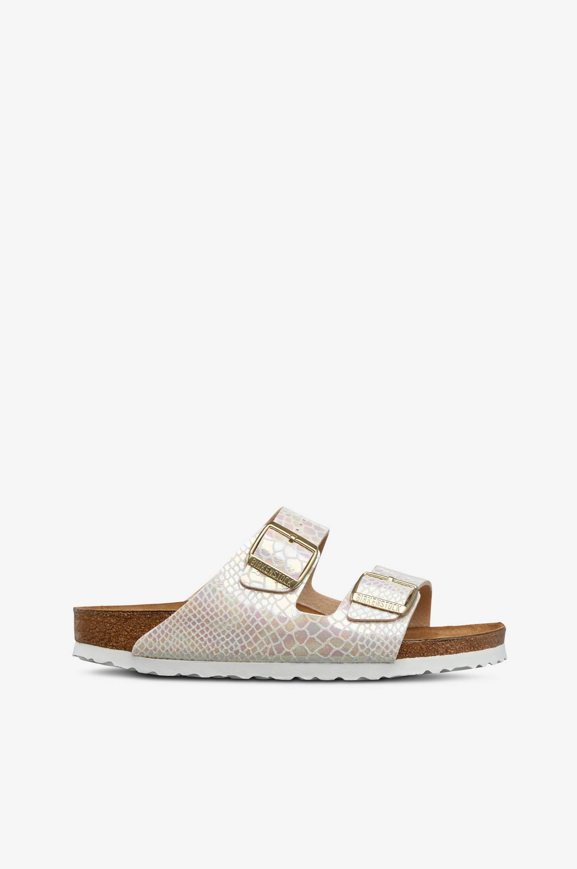 Sandaler Arizona med krokomønster Birkenstock Sandaler & sandaler med hæl til Kvinder i Beige