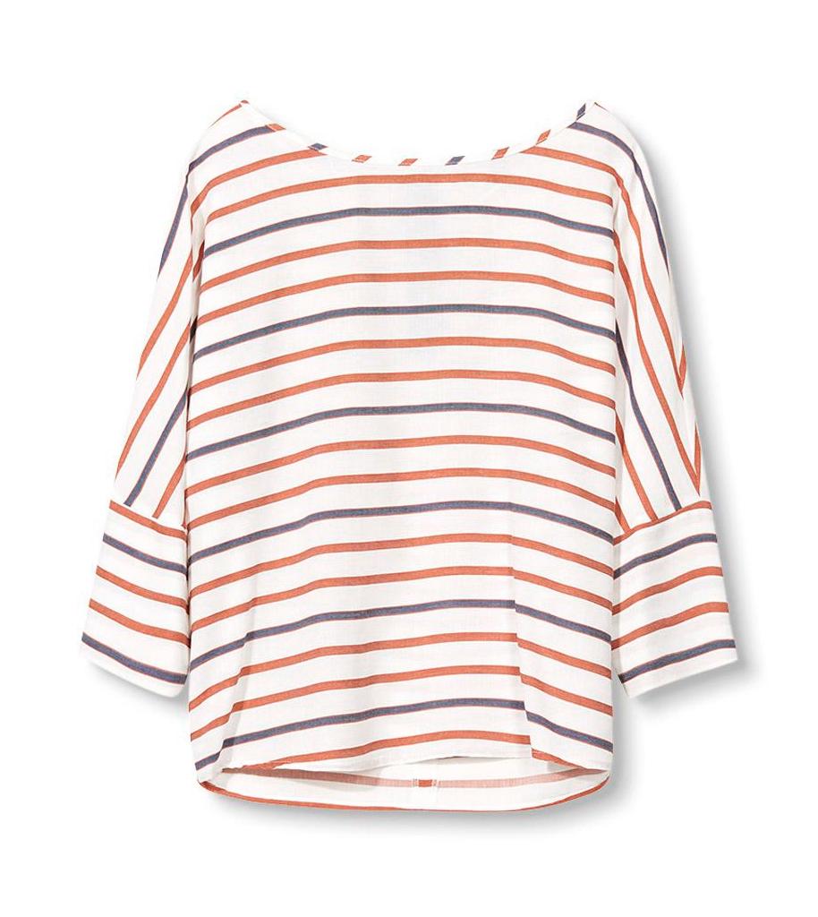 Bluse, relaxed fit Esprit Skjorter & bluser til Kvinder i Offwhite