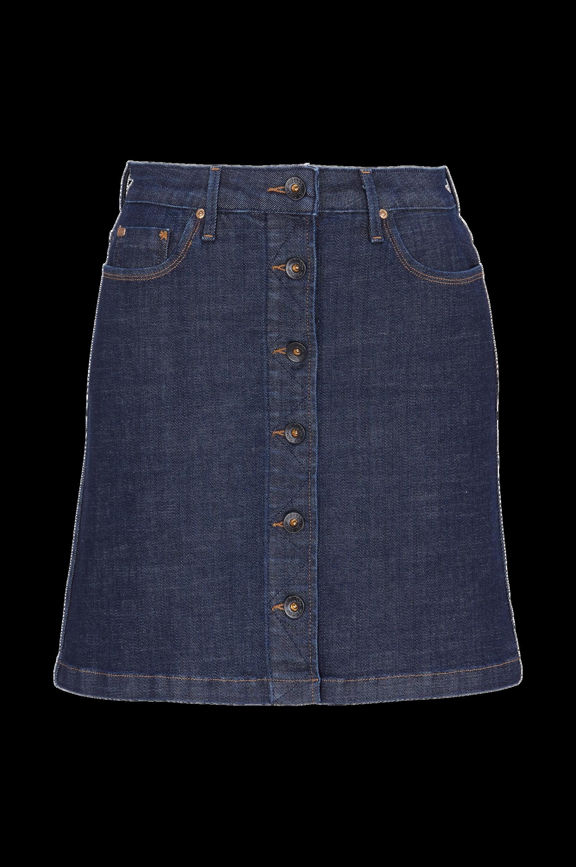 Button Through Skirt -farkkuhame, slim fit